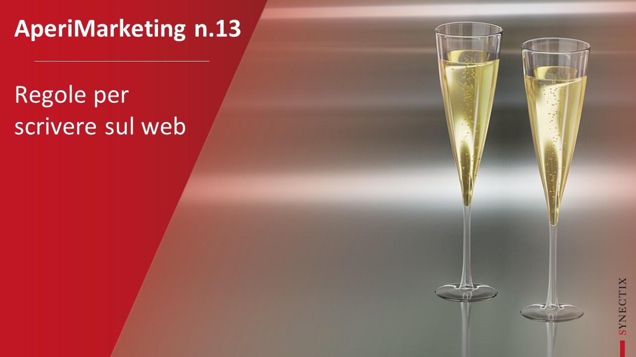 AperiMarketing N.13 – Regole per Scrivere sul Web